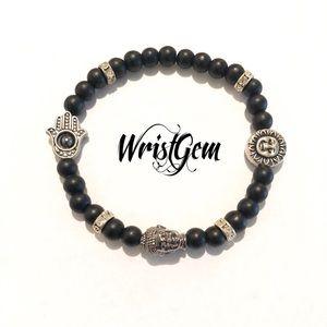 "WristGem ""Black Buddha"" Meditation Bracelet ."
